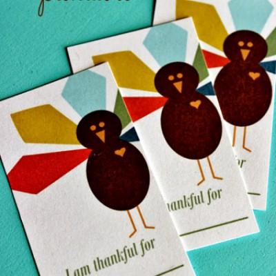 """I Am Thankful For"" Free Thanksgiving Printable"