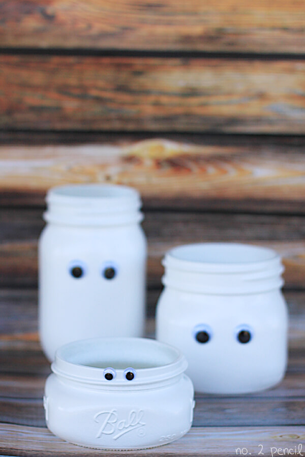 mason jar ghosts