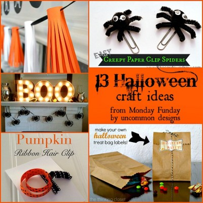 13 Halloween Craft Ideas and the Monday Funday Link Party {41}
