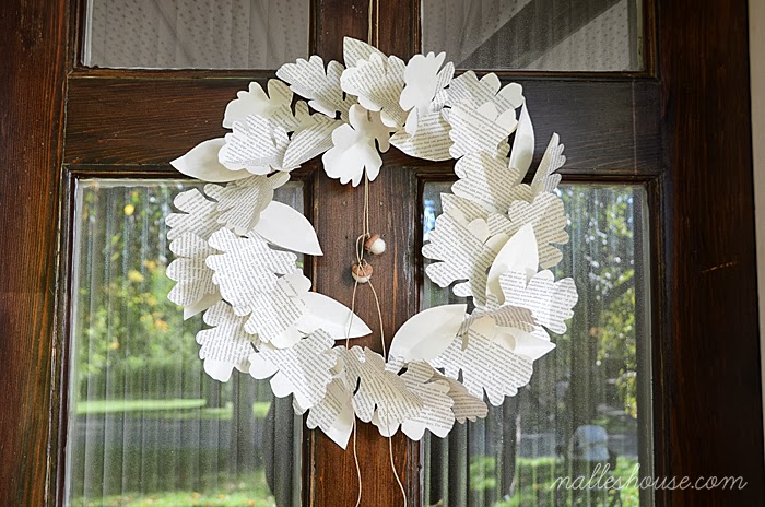 Paper Leaf Wreath 6