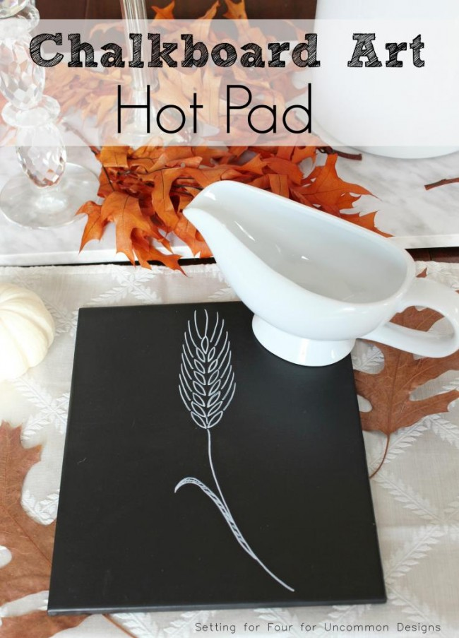 chalkboard art hot pad