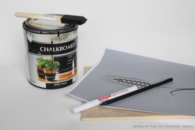 chalkboard art hot pad supplies
