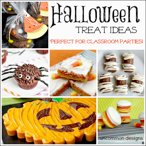 Classroom Treat Ideas ~ Halloween treats perfect for the classroom and parties