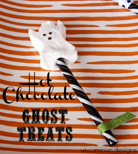 hot chocolate ghost treats