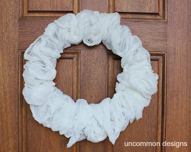 Spooky Halloween Mummy Wreath