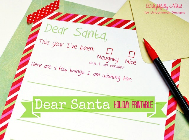 Letter to Santa free Christmas Printable. An adorable and fun way to create lasting memories for the entire family. #christmas #lettertosanta