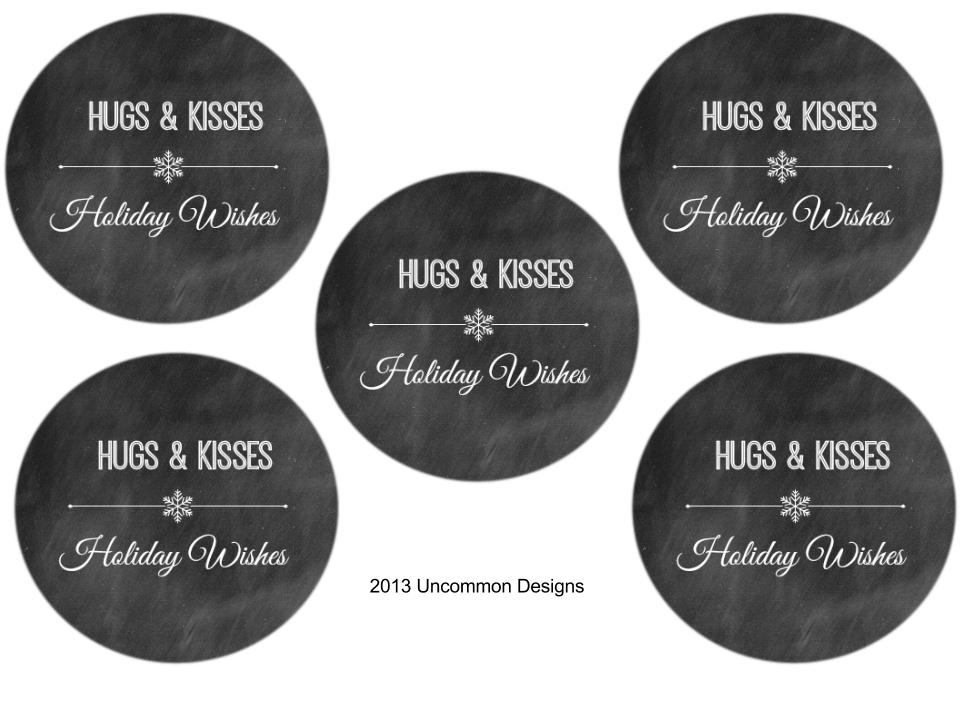 are welcome to download the Hugs and Kisses Holiday Wishes printable ...