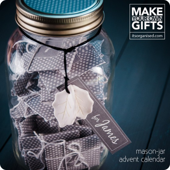 mason jar advent calendar