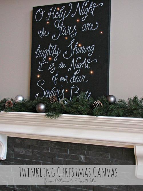 Oh Holy Night Christmas Sparkle Canvas