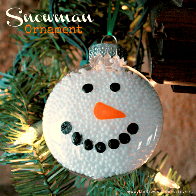 snowman ornament - Christmas Ball Decoration Ideas