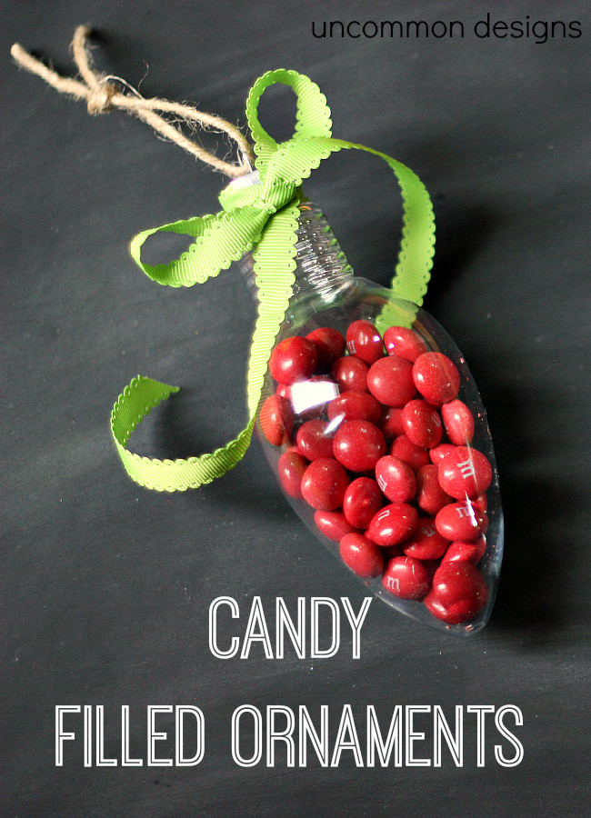 Candy Filled Ornaments by Uncommon Designs #gifts #Christmas
