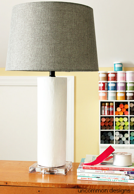 Painted Lamp with Chalky Finish Paint