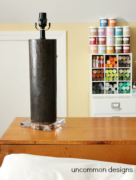 Updating a Lamp with Deco Art's New Chalky Finish Paint