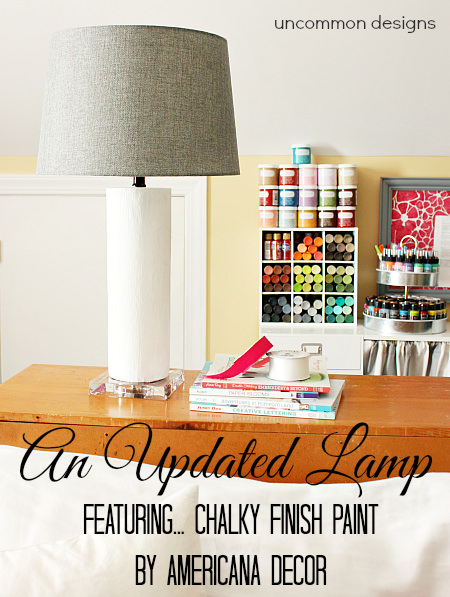Updating a lamp with chalky finish paint