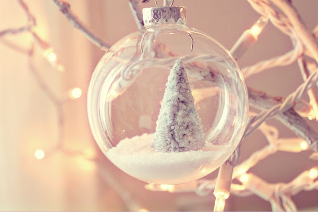 clear christmas ball ornament ideas