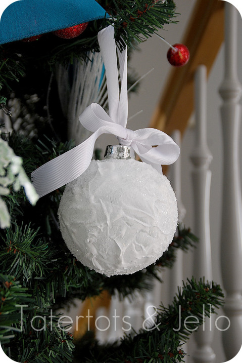 snow ball ornament - Christmas Ball Decoration Ideas
