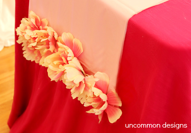 Flower Plastic Tablecloth Table Runner