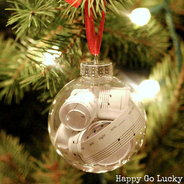 Superb Clear Christmas Ornament Ideas Part - 4: Sheet Music Ornament