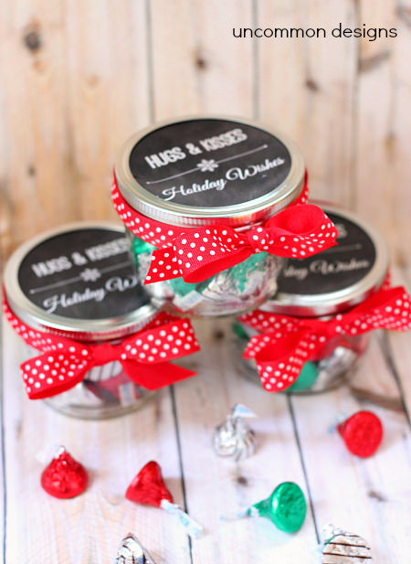 Christmas mason jar treat and printable tags uncommon for What to fill mason jars with for christmas