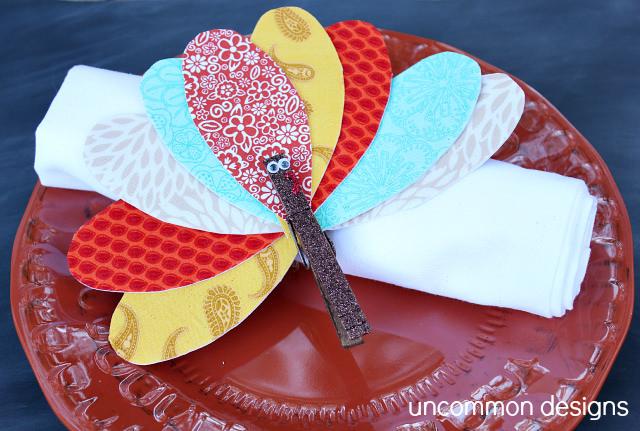Thanksgiving turkey napkin rings