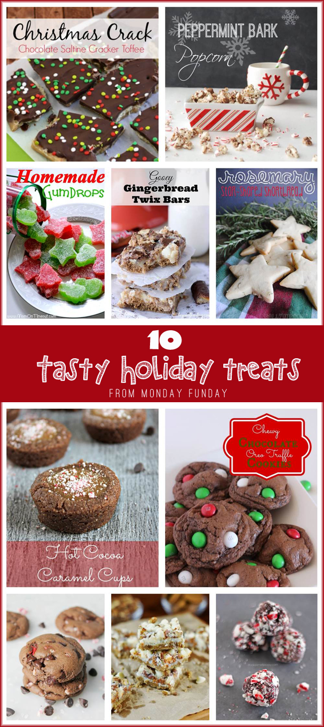 10 Tasty Holiday Treats from Monday Funday #linkpartyfeatures #recipes #christmas #desserts #treats via www.uncommondesignsonline.com