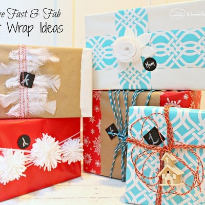 5 Fast and Fabulous Gift Wrap Ideas