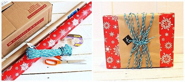 5 Fast and Fabulous Gift Wrap Ideas. Adorable and perfect for last minute gift wrapping. #christmas #giftwrap