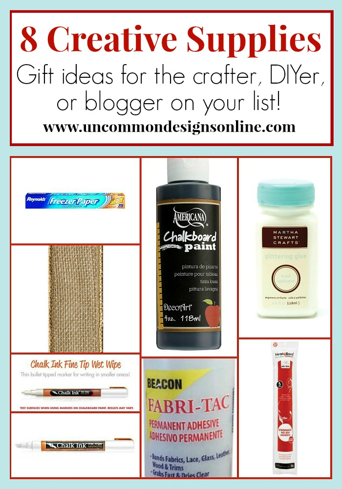8 Creative Supplies for Crafters, DIYers, and Bloggers. #giftideas #christmasideas