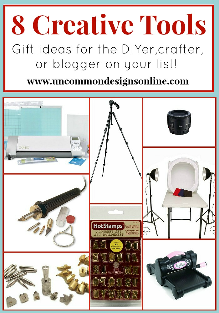 8 Creative Tools for Crafters, DIYers, and Bloggers. #giftideas #christmasideas
