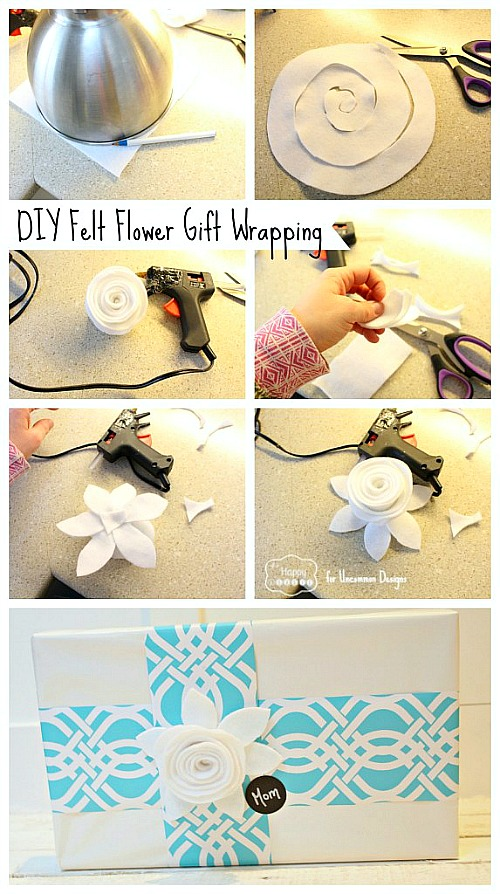 DIY Felt Flower Tutorial. #felt #flower #feltflower