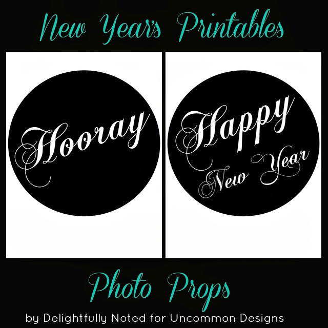 new years eve free printable photo props perfect for your party newyears freeprintable