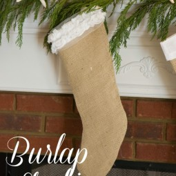 diy burlap christmas stockings