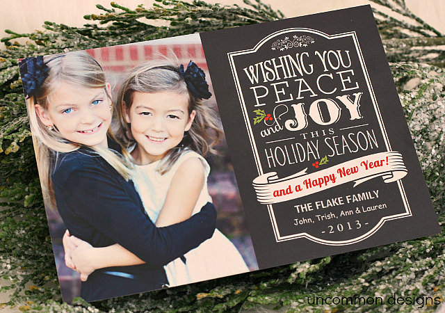 Chalkboard Christmas Card