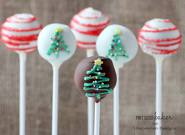 How to make Christmas Tree Cake Pops with this step by step tutorial. #recipes #christmas #cakepops via www.uncommondesignsonline.com