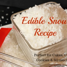 Recipe to make edible snow for your holiday baking! This works great on cookies, cakes, cupcakes & so much more! #Baking #Christmas via www.uncommondesigns.com