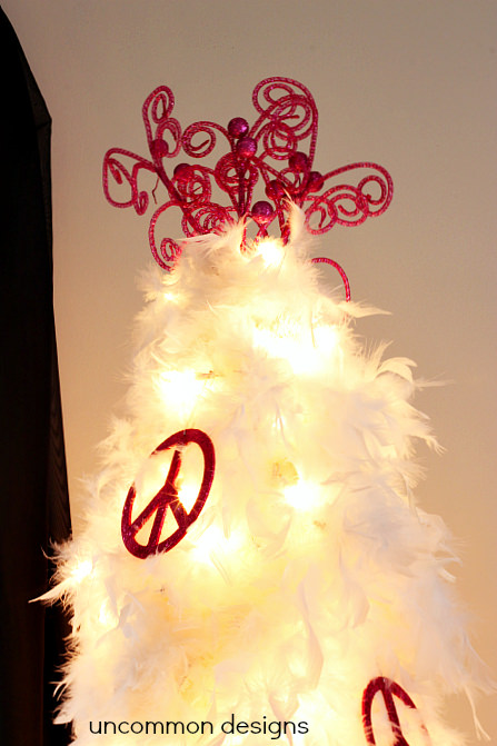 feather christmas tree topper