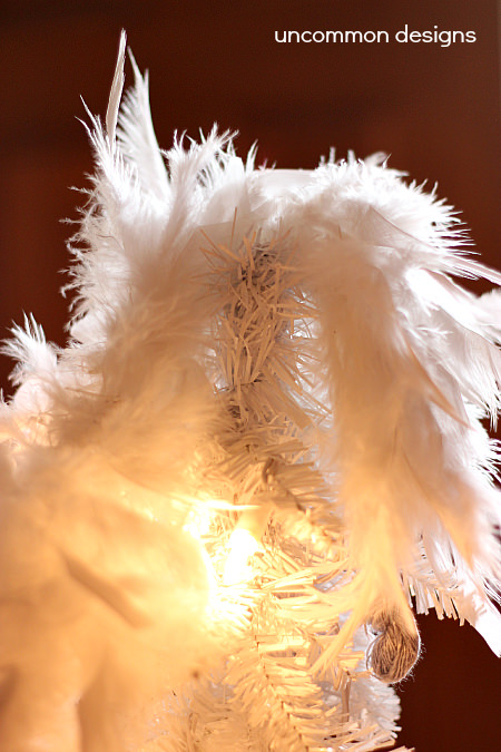 DIY Feather Boa Tree