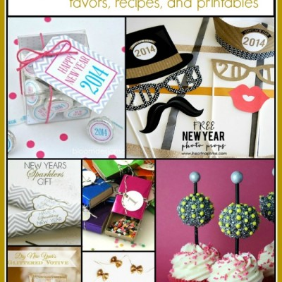 20+ New Year's Eve Ideas and Inspiration… Favors, Recipes, and Printables