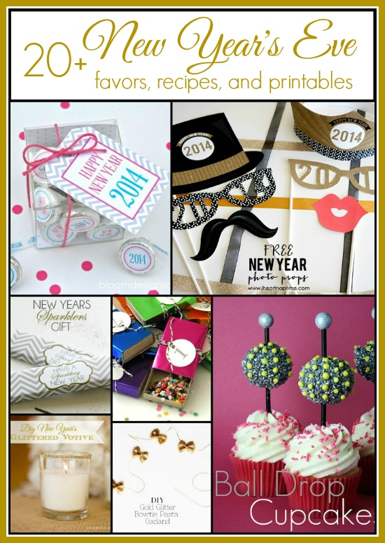 20+ New Year's Eve Ideas and Inspiration. We have included favors,recipes, and printables to make your celebration the best ever! #partyideas #newyearseve #newyears