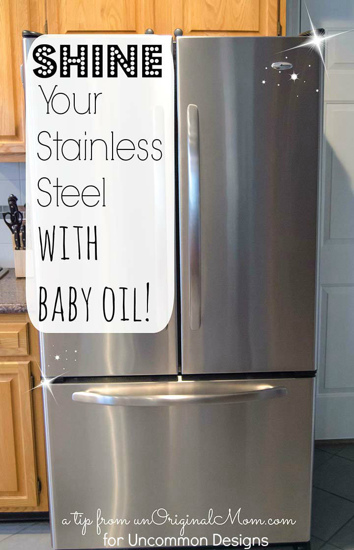 how to clean stainless steel appliances with baby oil uncommon designs. Black Bedroom Furniture Sets. Home Design Ideas