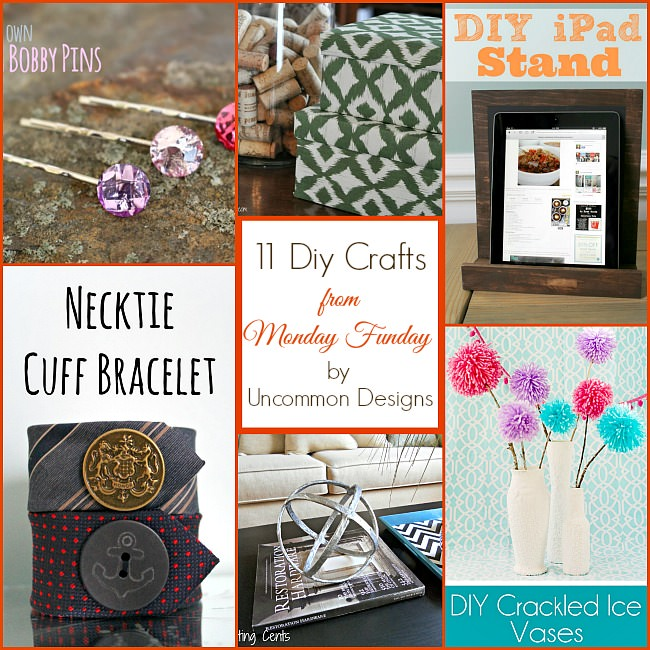 "11 DIY Crafts from Monday Funday! ""linkpartyfeatures #diycrafts #tutorial #mondayfundayparty"