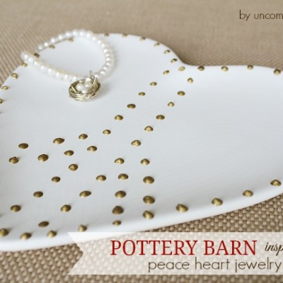 Pottery Barn Inspired Peace Heart Jewelry Dish