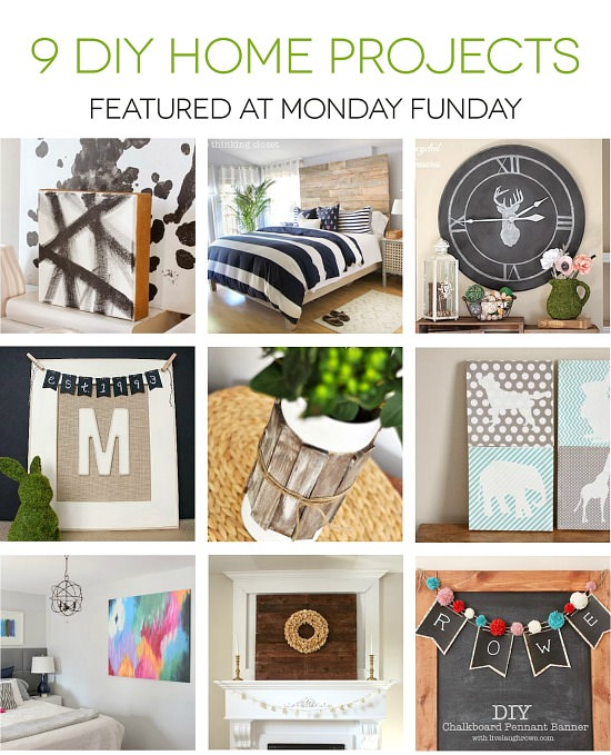 9 Diy Home Projects from Monday Funday #linkparty #mondayfunday #linkpartyfeatures