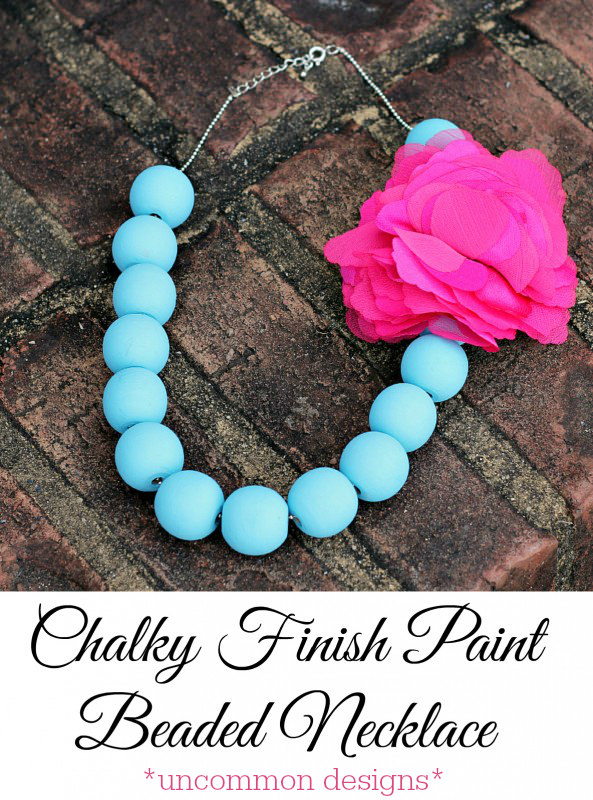 Make your own chalk painted necklace with Uncommon Designs