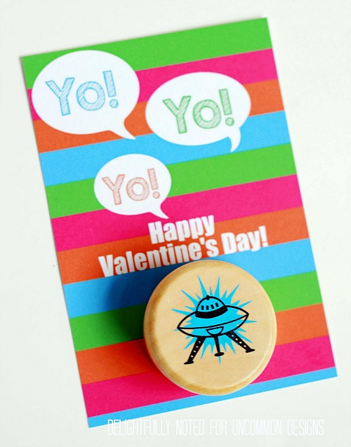 YoYO Valentine's Day Printable Card via Uncommon Designs