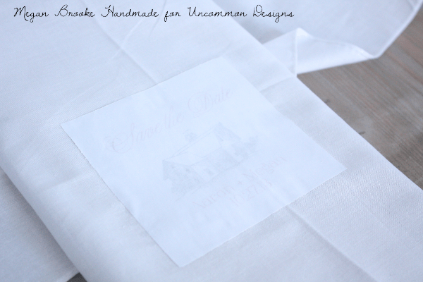 DIY Tea TowelWedding Save the Dates  www.uncommondesignsonline.com
