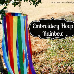 Embroidery Hoop Rainbow Project #StPatricksDay www.uncommondesignsonline.com