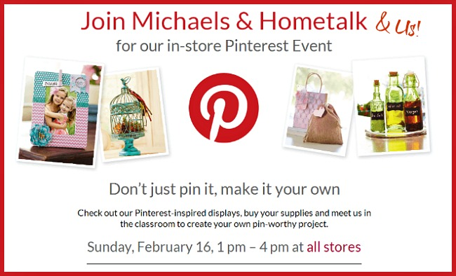 Michaels and Hometalk Pinterest Party #mpinterestparty
