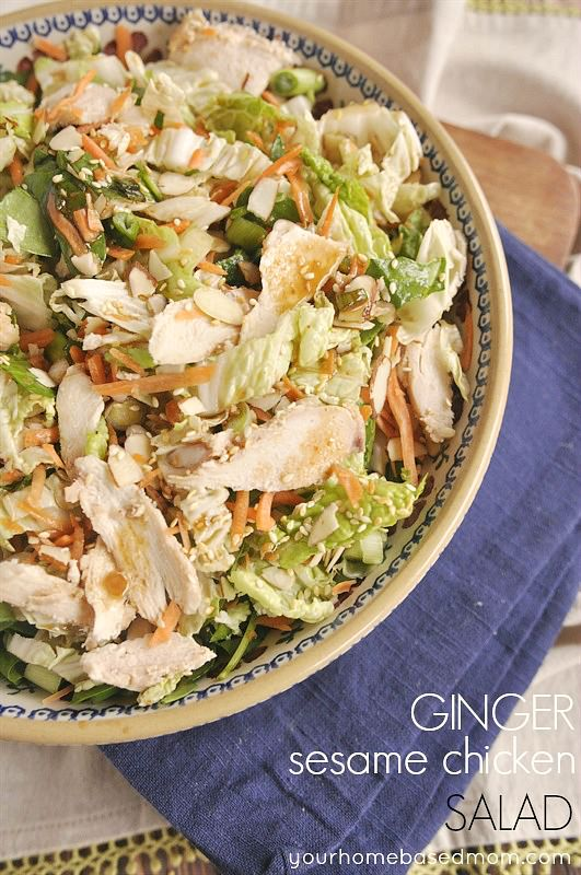 Ginger Sesame Chicken Salad
