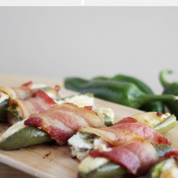 Bacon Wrapped Jalapenos with Cream Cheese Recipe www.uncommondesignsonline.com